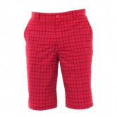 Pantalon corto golf Nike Plaid Rojo